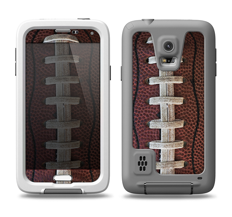 timeless design 649a6 7cdd8 The Football Laced Samsung Galaxy S5 LifeProof Fre Case Skin Set