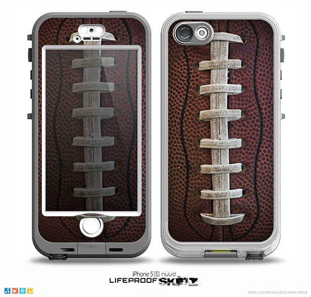 The Football Laced Skin for the iPhone 5-5s NUUD LifeProof Case for the LifeProof Skin