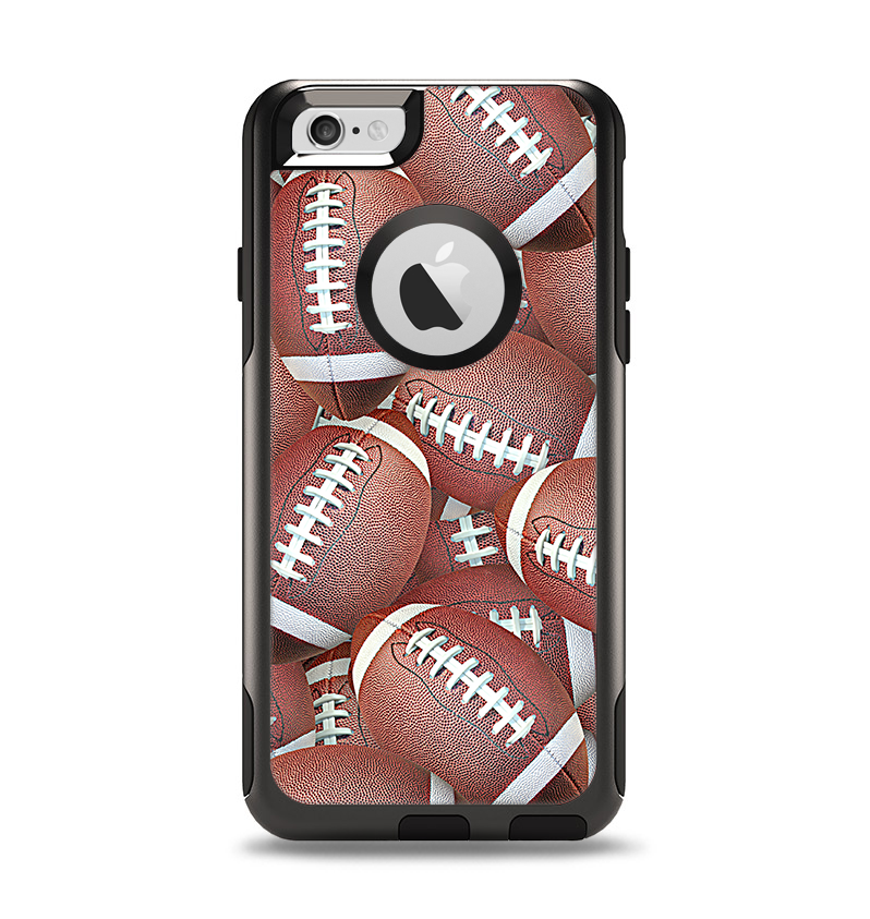 The Football Overlay Apple iPhone 6 Otterbox Commuter Case Skin Set