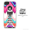 What Does The Fox Say Pink & Blue V1 Chevron Skin For The iPhone 4-4s or 5-5s Otterbox Commuter Case