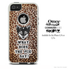 What Does The Fox Say Cheetah Print Skin For The iPhone 4-4s or 5-5s Otterbox Commuter Case
