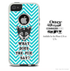 What Does The Fox Say Blue Chevron Skin For The iPhone 4-4s or 5-5s Otterbox Commuter Case