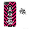 What Does The Fox Say Pink and Black Chevron Skin For The iPhone 4-4s or 5-5s Otterbox Commuter Case