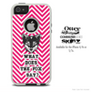 What Does The Fox Say Red Chevron Skin For The iPhone 4-4s or 5-5s Otterbox Commuter Case
