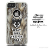 What Does The Fox Say Furry Cheetah Skin For The iPhone 4-4s or 5-5s Otterbox Commuter Case