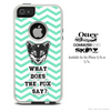 What Does The Fox Say Green Chevron Skin For The iPhone 4-4s or 5-5s Otterbox Commuter Case