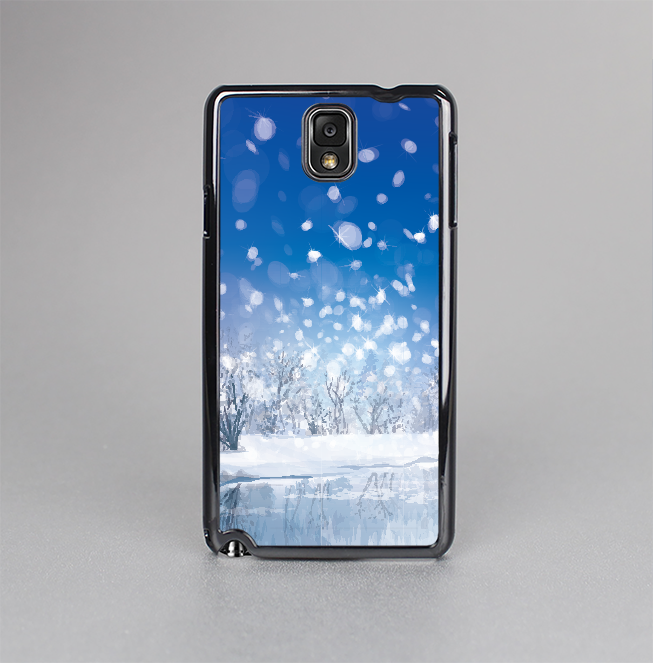 The Frozen Snowfall Pond Skin-Sert Case for the Samsung Galaxy Note 3