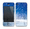 The Frozen Snowfall Pond Skin for the Apple iPhone 4-4s