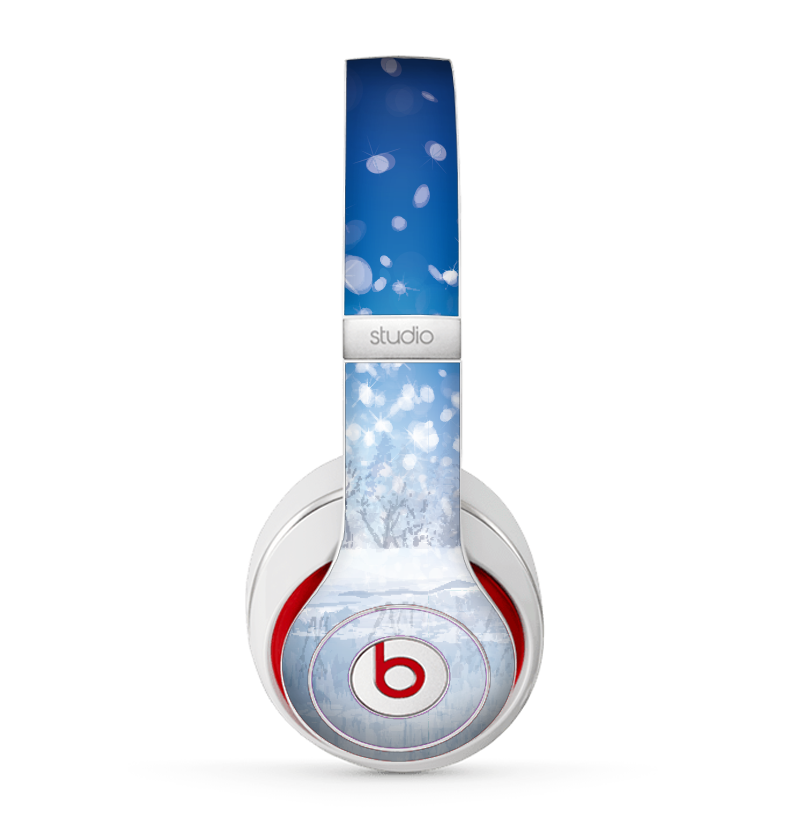 the frozen snowfall pond skin for the beats by dre studio 2013