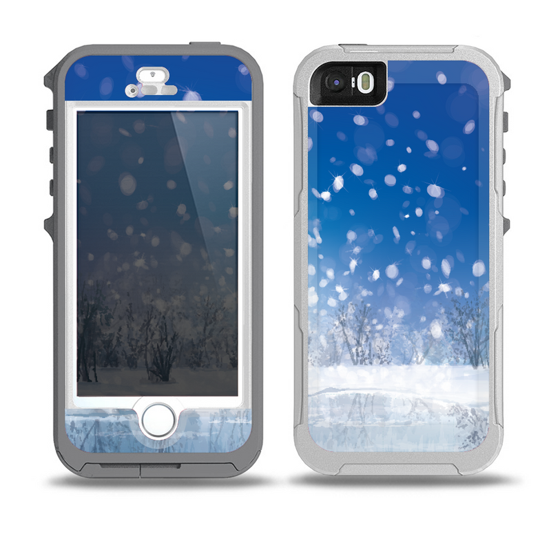 The Frozen Snowfall Pond Skin for the iPhone 5-5s OtterBox Preserver WaterProof Case