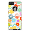 The Fun-Colored Cartoon Owls Skin For The iPhone 5-5s Otterbox Commuter Case