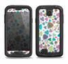 The Fun-Colored Pattern Hearts Samsung Galaxy S4 LifeProof Fre Case Skin Set