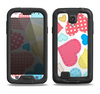 The Fun Colored Heart Patches Samsung Galaxy S4 LifeProof Nuud Case Skin Set