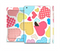 The Fun Colored Heart Patches Full Body Skin Set for the Apple iPad Mini 3