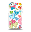The Fun Colored Love-Heart Treats Apple iPhone 5c Otterbox Symmetry Case Skin Set