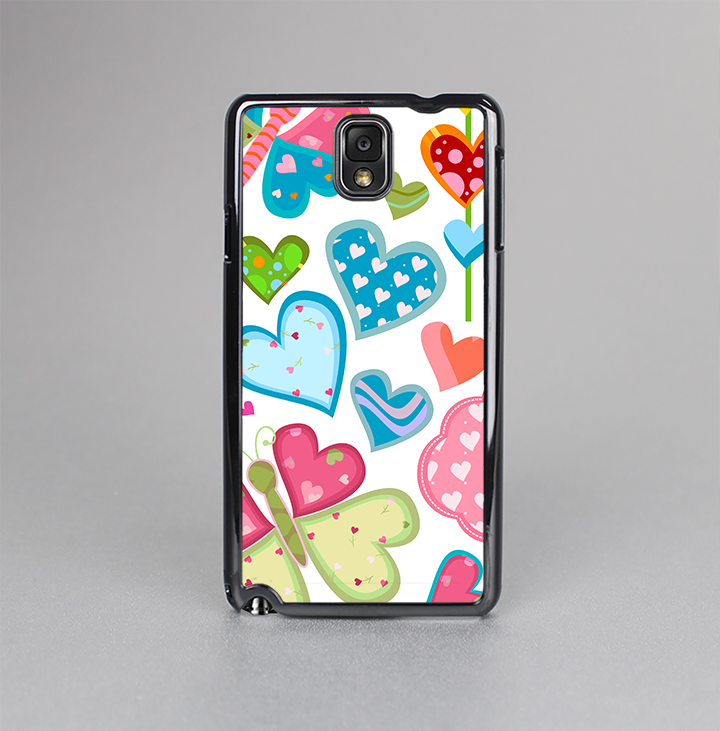 The Fun Colored Love-Heart Treats Skin-Sert Case for the Samsung Galaxy Note 3