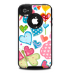 The Fun Colored Vector Flower Petals Skin for the iPhone 4-4s OtterBox Commuter Case