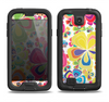 The Fun Colored Vector Flower Petals Samsung Galaxy S4 LifeProof Fre Case Skin Set