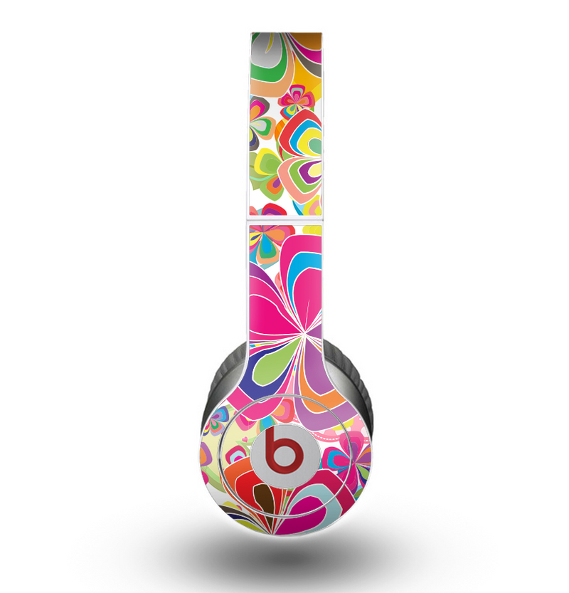 The Fun Colored Vector Flower Petals Skin for the Beats by Dre Original Solo-Solo HD Headphones