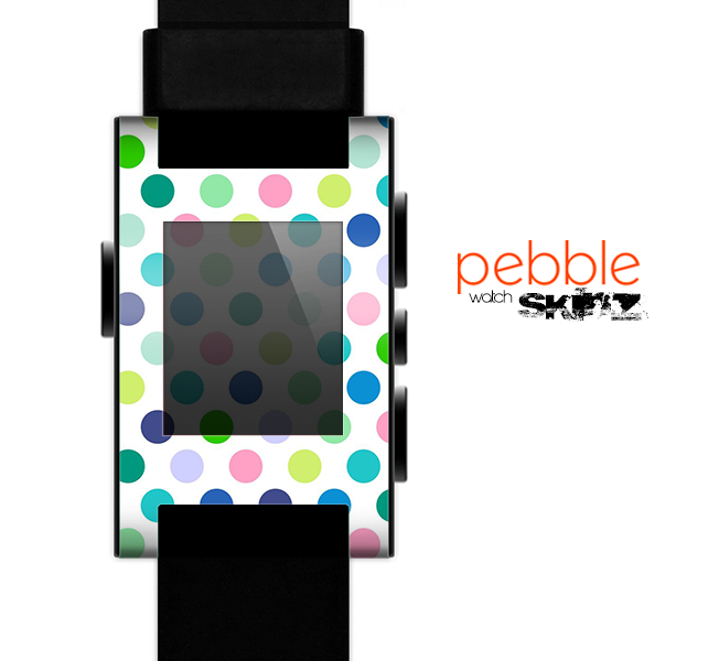 The Fun Colored Vector Polka Dots Skin for the Pebble SmartWatch