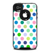 The Fun Colored Vector Polka Dots Skin for the iPhone 4-4s OtterBox Commuter Case