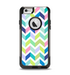 The Fun Colored Vector Segmented Chevron Pattern Apple iPhone 6 Otterbox Commuter Case Skin Set