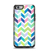 The Fun Colored Vector Segmented Chevron Pattern Apple iPhone 6 Otterbox Symmetry Case Skin Set