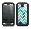 The Fun Colored Vector Segmented Chevron Pattern Samsung Galaxy S4 LifeProof Nuud Case Skin Set