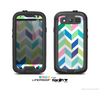 The Fun Colored Vector Segrmented Chevron Pattern Skin For The Samsung Galaxy S3 LifeProof Case