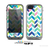 The Fun Colored Vector Segrmented Chevron Pattern Skin for the Apple iPhone 5c LifeProof Case