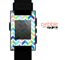 The Fun Colored Vector Segmented Chevron Pattern Skin for the Pebble SmartWatch