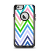 The Fun Colored Vector Sharp Chevron Pattern Apple iPhone 6 Otterbox Commuter Case Skin Set
