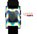 The Fun Colored Vector Sharp Swirly Pattern Skin for the Pebble SmartWatch