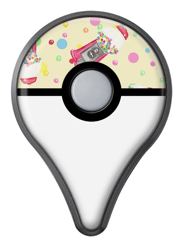 The Fun Colorful Gumball Machine Pattern Pokémon GO Plus Vinyl Protective Decal Skin Kit