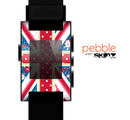 The Fun Styled Vector London England Flag Skin for the Pebble SmartWatch