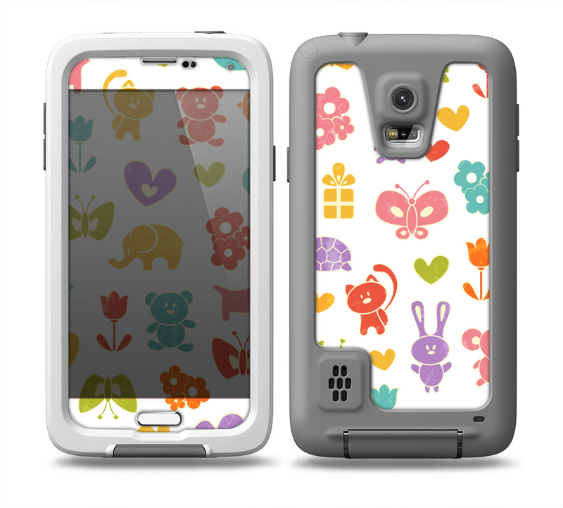 The Furry Fun-Colored Critters Pattern Skin for the Samsung Galaxy S5 frē LifeProof Case