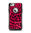 The Fuzzy Real Pink Leopard Print Apple iPhone 6 Otterbox Commuter Case Skin Set