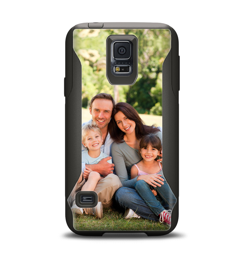 Custom Add Your Own Photo Samsung Galaxy S5 Otterbox Commuter Case Skin Set