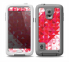The Geometric Faded Red Heart Skin for the Samsung Galaxy S5 frē LifeProof Case