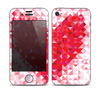 The Geometric Faded Red Heart Skin for the Apple iPhone 4-4s
