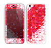 The Geometric Faded Red Heart Skin for the Apple iPhone 5c