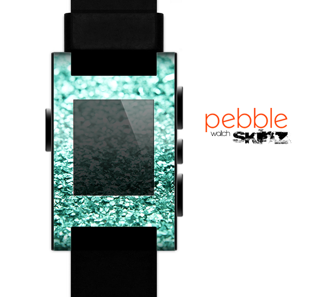 The Glimmer Green Skin for the Pebble SmartWatch