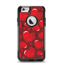 The Glossy Electric Hearts Apple iPhone 6 Otterbox Commuter Case Skin Set