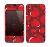 The Glossy Electric Hearts Skin for the Apple iPhone 4-4s
