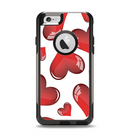 The Glossy Red 3D Love Hearts Apple iPhone 6 Otterbox Commuter Case Skin Set