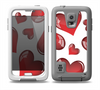 The Glossy Red 3D Love Hearts Skin for the Samsung Galaxy S5 frē LifeProof Case
