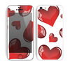 The Glossy Red 3D Love Hearts Skin for the Apple iPhone 5c
