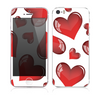 The Glossy Red 3D Love Hearts Skin for the Apple iPhone 5s