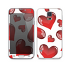 The Glossy Red 3D Love Hearts on White Skin For the Samsung Galaxy S5