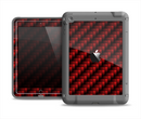The Glossy Red Carbon Fiber Apple iPad Air LifeProof Fre Case Skin Set